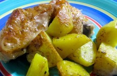 pollo arrosto con patate-7