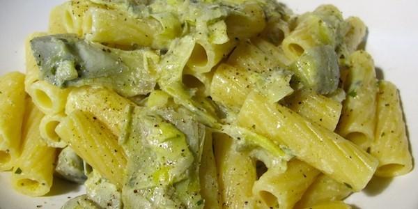 Le ricette della vale pasta con caprino e carciofi for Ricette con carciofi